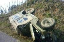 واژگونی خودرو جان 2 نفر را در شهرستان دیواندره گرفت