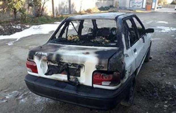 وقوع یک مورد آتش سوزی عمدی خودرو در بجنورد