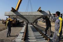 ریل گذاری 145 کیلومتر از راه آهن قزوین – رشت