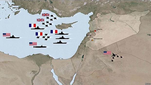 روسیه از حمله موشکی زیردریایی انگلیس به سوریه جلوگیری کرد