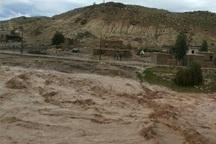 راه ارتباطی پنج روستای پلدختر قطع شد