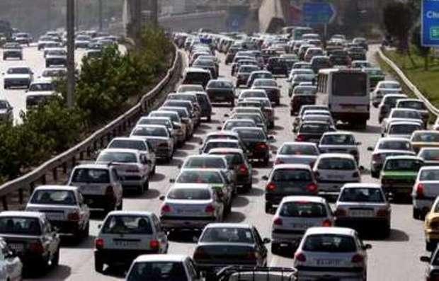 ترافیک در مسیر مشهد - بهشت رضا پرحجم است