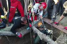 فوت مرد 40 ساله بر اثر سقوط در چاه 22 متری