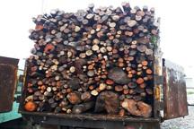 محموله چوب قاچاق در آستارا توقیف شد
