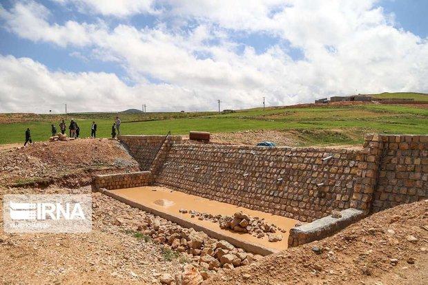 ۳۵۰۰ مترمکعب بند سنگ و ملات در حوضه چاشتخوران سمنان ساخته شد