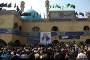 مراسم تشییع پیکر بهرام شفیع با حضور یادگار حضرت امام (ره)