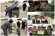 کاشت نهال به یاد محمد طاها اقدامی در شهرستان مسجدسلیمان