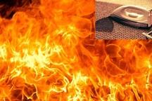 اتو منزل مسکونی را به آتش کشید