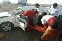 واژگونی خودرو سمند در جاده بادرود- اردستان سه مصدوم برجا گذاشت