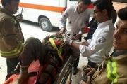 سقوط یک کارگر به داخل چاه