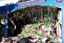 34 پرستوی خونین بال به مهمانی مردم کرمانشاه آمدند تشییع پیکر باشکوه شهدا