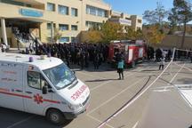 مانور ایمنی در برابر زلزله در مدارس نایین برگزار شد