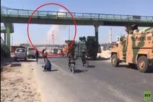 بمباران کاروان نظامی ترکیه توسط ارتش سوریه