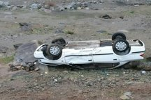 واژگونی خودرو پنج مجروح بر جای گذاشت