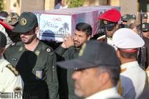 یک شهید دوران دفاع مقدس در زرقان فارس آرام گرفت