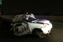 برخورد خودرو تیبا با تابلو در تهران دو کشته بر جا گذاشت