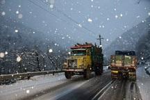 بارش برف بهاری در گردنه قسطین لار قزوین