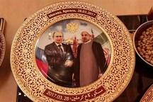 بشقاب ویژه کرملین در ضیافت کاری امروز روسای جمهور روسیه و ایران+ عکس