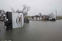 طوفان آمریکا قربانی گرفت+ تصاویر