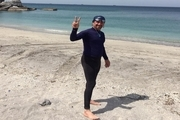 شناگر هرمزگان مسیر خصب تا بندرعباس را شنا کرد