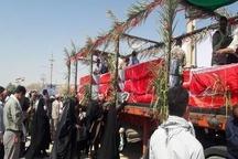 ورود پیکرهای ۲۶ شهید دفاع مقدس از مرز سومار