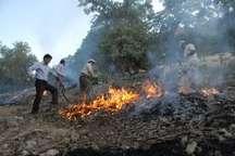 آتش سوزی در ارتفاعات هشتاد پهلوی خرم آباد مهار شد