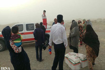 3856 ماسک و مواد غذایی بین مردم توفان زده هیرمند توزیع شد