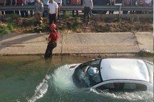 جان باختن جوان ۱۸ ساله در پی سقوط خودرو به کانال آب