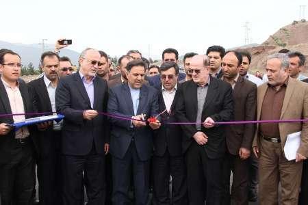 افتتاح یک تقاطع غیر همسطح در شهرستان رودبار با حضور وزیر راه