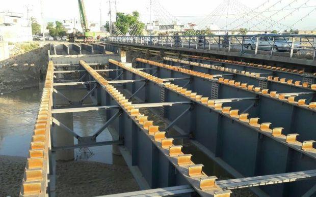 پیشرفت 75 درصدی پل دوم گدم آباد شهر گنبدکاووس
