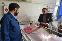 عیادت استاندار خوزستان از مصدومان سانحه شب گذشته اتوبوس کاروان راهیان نور