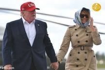 عکس/ ملانیا ترامپ روسری به سر کرد
