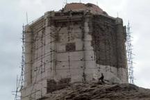 مرحله دوم مرمت برج بزرگ سمیران انجام شد