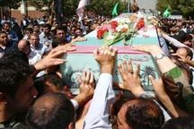 پیکر 2 شهید گمنام در نکا تشییع و به خاک سپرده شد
