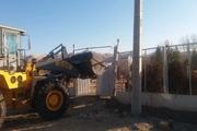 2 بنای غیرمجاز در اراضی کشاورزی شهرستان البرز تخریب شد