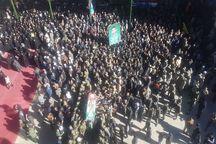 پیکر شهید نیروی انتظامی در بیرجند تشییع شد
