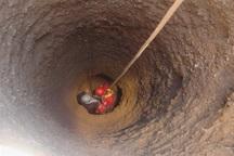 کارگر گرفتار از عمق چاه 23 متری نجات یافت