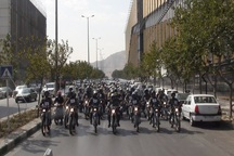 مانور شهری موتورسیکلت سواران قانونمند در مشهد