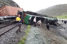 تصاویر | واژگونی قطار باری ایران به ترکیه