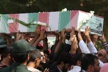 پیکرمطهر چهار شهید گمنام در میناب تشییع شد