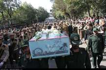 تشییع پیکرشهید نیروی انتظامی دوران دفاع مقدس در بروجرد