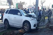 واژگونی خودرو سواری در تهران 5 مصدوم داشت