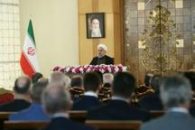 روحانی: آمریکا با همه توان بدنبال فشار و یاس آفرینی علیه ملت ایران بود، اما مردم ما متحدتر از همیشه است