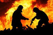 وقوع آتش سوزی در یک مجتمع مسکونی در شهر جدید سهند