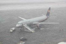 برقراری پروازهای فرودگاه تبریز با وجود بارش برف  انجام پروازهای عتبات عالیات از 16 بهمن ماه