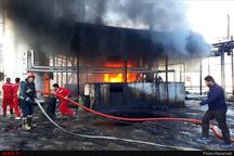 آتش سوزی در کارخانه قیر آبادان