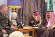 فرمانده تروریستهای آمریکایی با شاه عربستان دیدار کرد + عکس