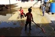 گزارش تصویری کودکانِ سیل