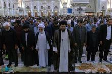 اقامه نماز مغرب و عشاء 14 خرداد به امامت حجت الاسلام والمسلمین سید یاسر خمینی+عکس
