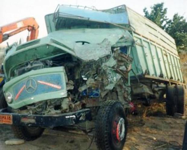 ترکیدگی لاستیک باعث مرگ راننده کامیون در چوار شد